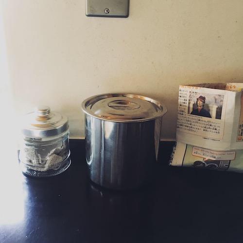 生ごみを入れるステンレス容器